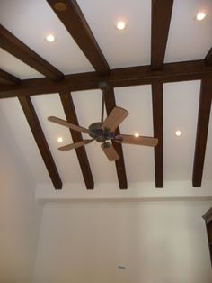 cathedral ceiling trusses installed in a home s living room built