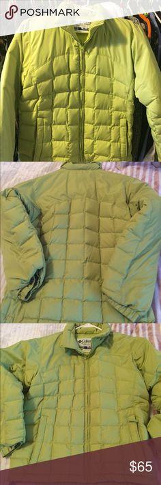 Columbia jacket Green Columbia winter jacket Jackets & Coats Puffers