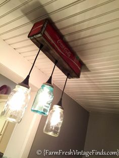 Coca Cola Mason Jar Light-2