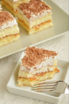 Sweets Recipes, Cake Recipes, Healthy Recipes, Vanilla Cream, Vanilla Cake, Romanian Food, Tasty, Yummy Food, Nutella