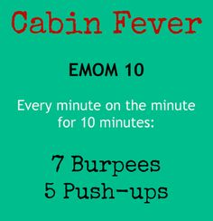 EMOM 10 Burpees + Push-ups #CrossFit
