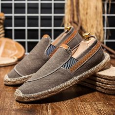 946786f251007 Canvas Elastic Band Flats Loafers – shecici