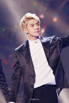Sehun - 161101 SBS Power FM 20th Anniversary Concert Credit: CampFire_xo. (SBS 파워FM 20주년 콘서트)
