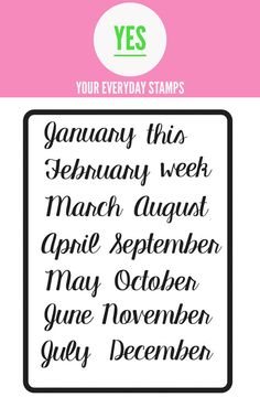 This is our Months set.  Great for planners, cards, Project Life, pocket pages, and scrapbook layouts!