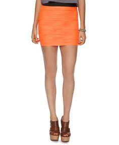 Neon Matelassé Skirt | FOREVER21 -