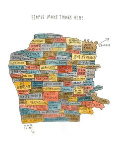 A Makers' Map from Meanwhile in San Francisco Art Print