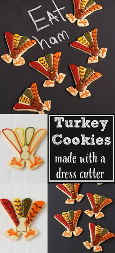 Cute Turkey Cookies | The Bearfoot Baker