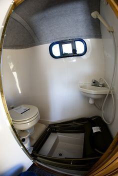 13' Scamp Bathroom interior. The best bathroom I've seen on a 13' trailer
