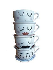 Large Character Tea Cup And Saucer - view all sale items