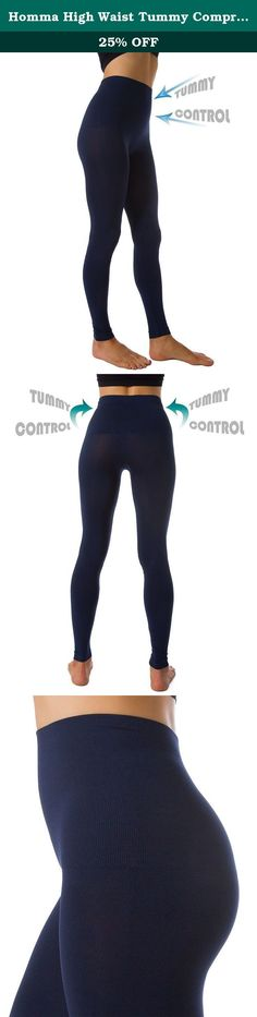"Homma High Waist Tummy Compression Control Slimming Leggings (LARGE, NAVY). Achieve a perfect hourglass silhouette with these high waist control top compression leggings.Featuring a compression waistband and full length, soft, seamless leggings will give you the support you need while keeping you comfortable all day long. ***Please make sure you get genuine HommaTM leggings. ""Homma USA"" is the only authorized retailer of HommaTM brand on Amazon.com."