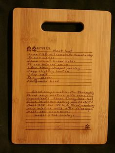 Custom engraved cutting board for Michelle from 3DCarving on Etsy