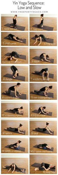 "This month's Yin Yoga Sequence is aptly titled ""Low and Slow"", inviting an. - This month's Yin Yoga Sequence is aptly titled ""Low and Slow"", inviting an earthy, grounded e - Vinyasa Yoga, Yoga Régénérateur, Yoga Yin, Sup Yoga, Yoga Moves, Ashtanga Yoga, Yoga Flow, Yoga Meditation, Restorative Yoga Sequence"