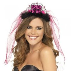Buy Bride To Be Tiara with Veil Bride Crown Hen Night Party Bachelorette Party Bridal Shower Decor Black - Black - and Find More Children's Bridal Shower Party Supplies enjoy up to off. Bachelorette Party Drinks, Bachelorette Party Decorations, Bridal Shower Decorations, Wedding Decoration, Bride Veil, Bride To Be Sash, Bride Tiara, Wedding Veil, Black Tiara