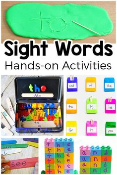 Sight Word Activities That Your Kids Will Love Hands On Sight Word Activities That Your Kids Will Enjoy Fun Ways To Teach Sight Words Preschool Sight Words, Teaching Sight Words, Sight Word Practice, Sight Word Games, Sight Word Book, Sight Word Centers, Writing Practice, Word Study Activities, Hands On Activities