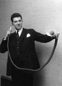 This long-distance ear trumpet was custom-made in the 19th century.  -Northgate Hearing Services