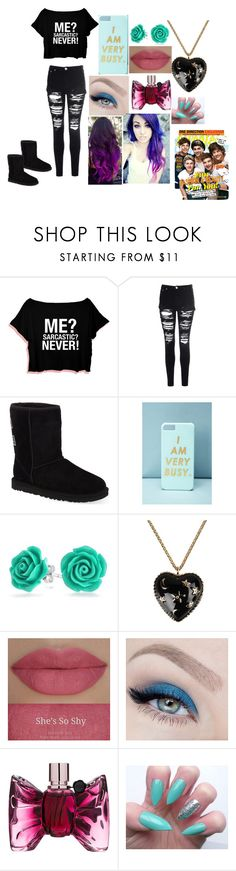 """back to school"" by hannahboo-14 ❤ liked on Polyvore featuring Glamorous, UGG Australia, Forever 21, Bling Jewelry, Moschino, Holy Ghost and Viktor & Rolf"