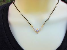 On Sale  Mangalsutra with Cubic Zirconium Pendant by Alankaar