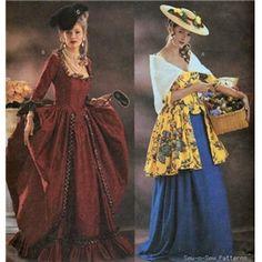 Love them both! My Fair Lady, Costume Patterns, Dress Patterns, Sewing Patterns, Vintage Patterns, Cloth Patterns, Vintage Sewing, Historical Costume, Historical Clothing