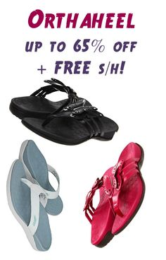 Orthaheel Shoes and Sandals ~ up to 65% off + FREE Shipping!
