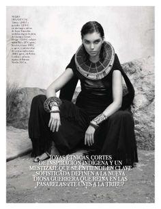 visual optimism; fashion editorials, shows, campaigns & more!: la masai blanca: arizona muse by cuneyt akeroglu for vogue spain march 2014