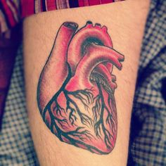 My heart. I got it done at Red Rocket Tattoos in Midtown Manhattan, NYC. The artists's name is chino.  To see my other tattoos check out my tumblrwww.loveillionaire.tumblr.com
