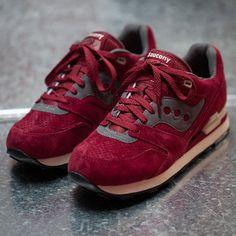 Red Courageous Premium Sneakers by Saucony