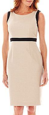 RepliKate of Jaeger crepe dress - Black Label by Evan-Picone Sleeveless Framed Inset Dress $39.99