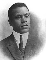 """Oscar Micheaux, the first African-American to produce a feature-length film (""""The Homesteader"""" in 1920) and a sound feature-length film (""""The Exile"""" in 1931)."""