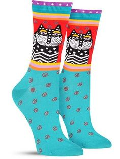 Don't zig-zag around the issue- your wardrobe needs a serious color boost. Add some thrill to your footwear with these Laurel Burch socks, which feature everything from chevron, stripes, and polka dot