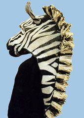 zebra head theatre costume mask custom prop maskmaker animal