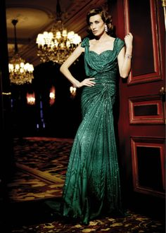 Emerald gown...