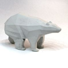 Concrete Polar Bear Sculpture by ChalkConcrete on Etsy