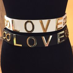 🎉HOST PICK🎉🌷CUTE LOVE BELT SET🌷 These are super cute and have and elastic band is the back for stretch.. Letters are good and snaps to close.. 60%PU 40% polyester.. NWOT Accessories Belts