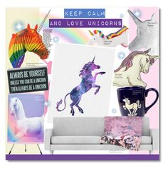 """""""Unicorn Style"""" by chocolate-addicted-angel ❤ liked on Polyvore featuring interior, interiors, interior design, home, home decor, interior decorating, CB2, Silken Favours, Kess InHouse and Primitives By Kathy"""