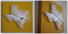 Semi-DIY State Nail and String Art   Semi-DIY