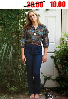 70s floral tunic shirt