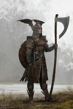Fantasy Warrior, Medieval Fantasy, Sci Fi Fantasy, Fantasy World, Vikings, Dnd Characters, Fantasy Characters, Armor Concept, Concept Art
