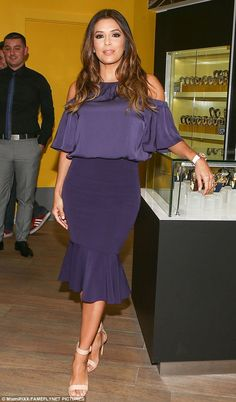Promotion: Eva Longoria put on a show as she touted her TechnoMarine watch collection in M...