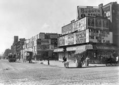 Photo: 7Ave and 42St. 1905. - The play, The Moth and the Flame opened in 1898 @ the Lyceum Theater on E 24St. Later moved to Longacre Sqaure (known today as Times Square) Photo is looking west on Broadway. Photo Credit: Byron Co.