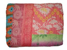 Hey, I found this really awesome Etsy listing at https://www.etsy.com/listing/196857463/vintage-throw-kantha-quilt-n-ethnic