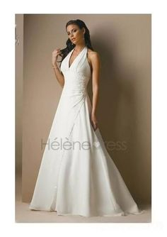 A-Line/Princess Halter Top Chapel Train wedding dress for brides 2010 Style(WDS0242) - A-Line Wedding Dresses - Wedding Dresses