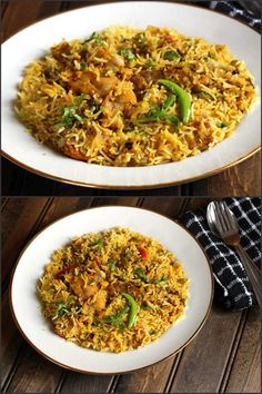 Chicken Biryani is a flavorful and classic Indian dish prepared using basmati rice, chicken, aromatic spices. Do try out this delicious recipe, its worth it Goan Recipes, Indian Food Recipes, Vegetarian Recipes, Chicken Recipes, Cooking Recipes, Healthy Recipes, Ethnic Recipes, Oriental Recipes, Indian Foods
