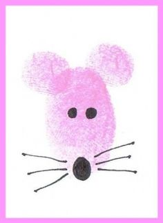 Thumbprint animals for kids to make gift cards.