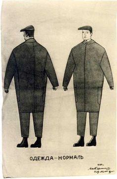 Normal Attire, apparel design by Vladimir Tatlin, 1923-4