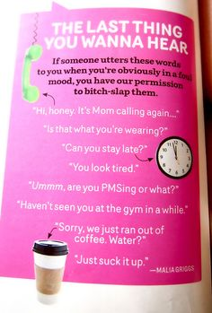 Saw this in Cosmo! So funny and so true!