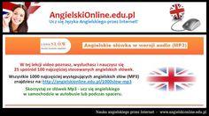 Angielski 1000 słów - szybka nauka najważniejszych słówek języka angielskiego. Więcej na http://angielskionline.edu.pl/1000slow Tagi: #angielski-online #angielski #n1000slow