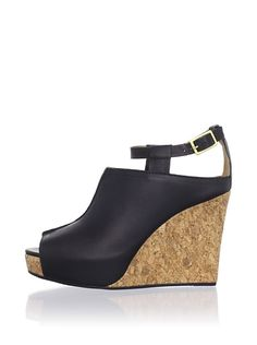 Cynthia Vincent Shoes: Nixon Platform Pump    Ankle strap with adjustable buckle, smooth leather upper, open toe, wedge heel. $118... ouch! BUT  <3