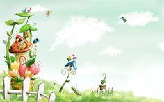 Vector Cartoon Child Wallpaper Album  x Children