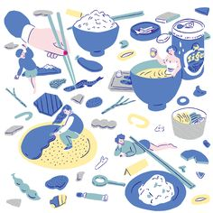 Cyan 2015 Summer by Yu Fukagawa   Illustrator Yu Fukagawa's work is considered, nuanced and delightfully strange.  http://yu-fukagawa.tumblr.com/
