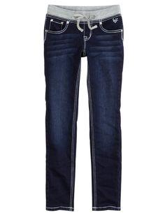Girls Clothing | Super Skinny | Knit Waist Super Skinny Jeans | Shop Justice